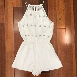 Other - Abercrombie kids lace/ crochet white Romper
